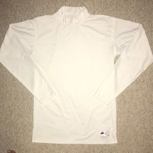White Under Amour Long Sleeve Athletic Shirt